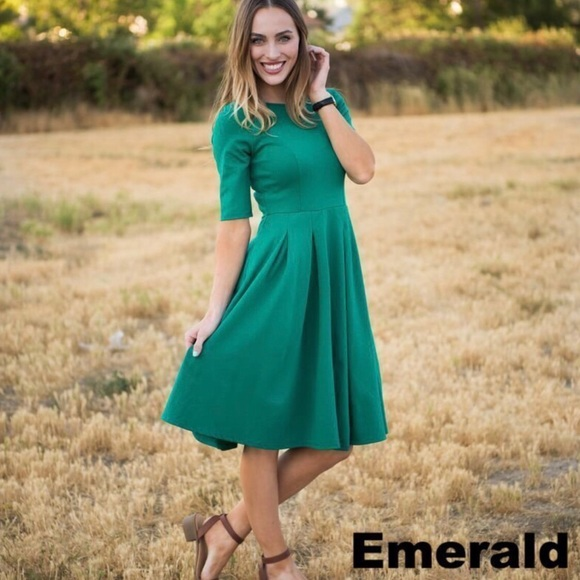 1a6c9d28f Sexy Modest Dresses | Brigitte Brianna Swing Dress In Emerald Green ...